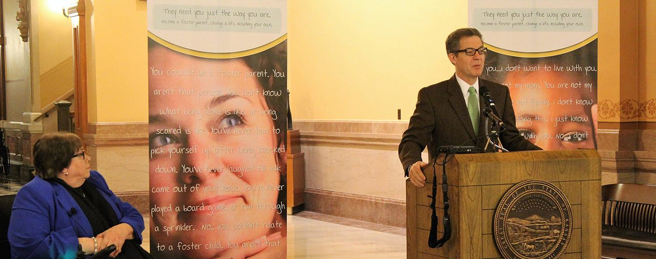 Brownback Signs Bill Creating Task Force To Study Kansas Foster Care System